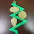 Zig-Zag Christmas Ornament image