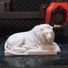 Picture of print of Recumbent Lion