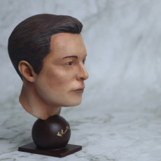 Picture of print of Elon Musk