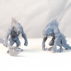 Fishmen - DnD Characters - 3 Poses