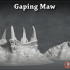 Gaping Maw - 3D Printable Monster- 2 Poses image