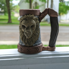 Picture of print of Mythic Mugs - Lion's Brew - Can Holder / Storage Container Cet objet imprimé a été téléchargé par Drake Lang