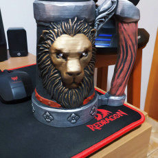 Picture of print of Mythic Mugs - Lion's Brew - Can Holder / Storage Container Cet objet imprimé a été téléchargé par Igor Gabriel
