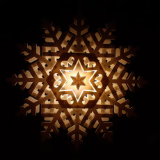 Big shining snowflake