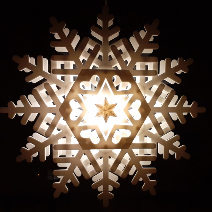 Big shining snowflake