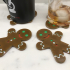 Gingerbread Man Coasters image