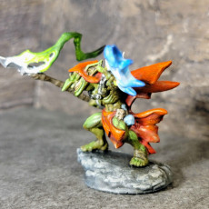 Picture of print of ZipZaap Darkspark - Sparksoot Goblin Hero
