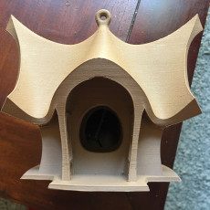 Picture of print of Bird house and feeder