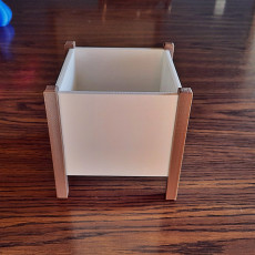 Picture of print of Modern Square Planter Box