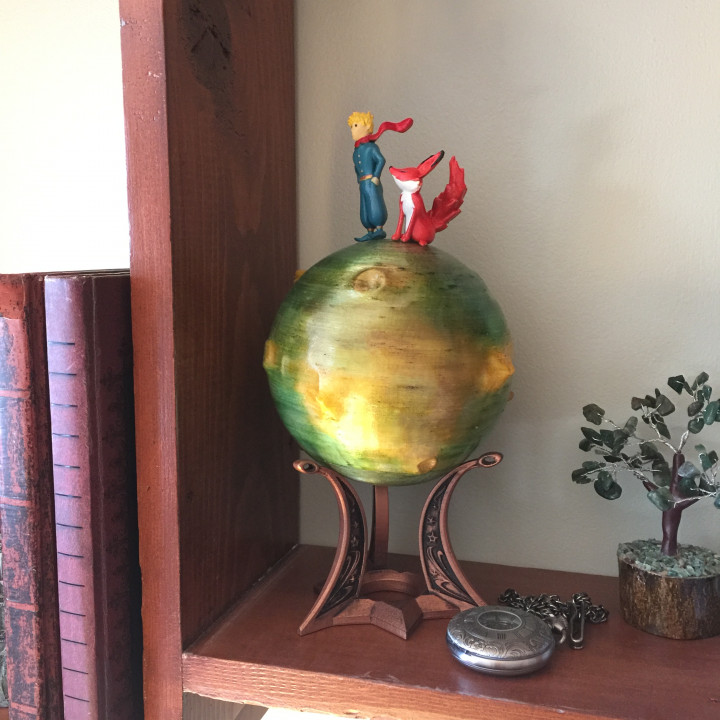 Le Petit Prince Diorama Art Globe Lamp
