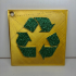 Recycle Sign: Wall/Desk Display or Keychain image