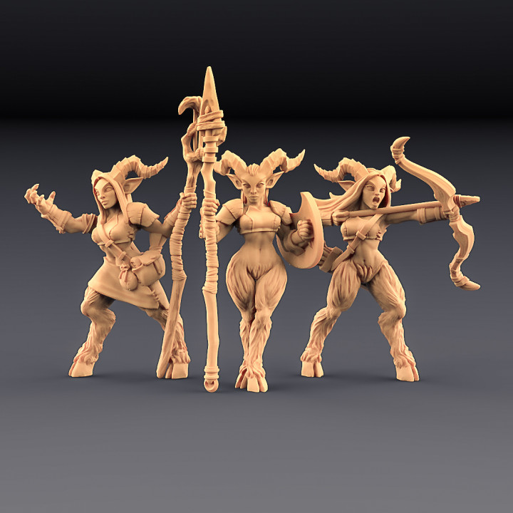 Satyr Ladies - 3 Units (AMAZONS! Kickstarter)