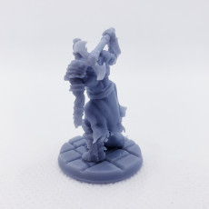 Picture of print of Male Barbarian (32mm Scale Miniature)