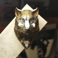 Picture of print of Wolf Bust