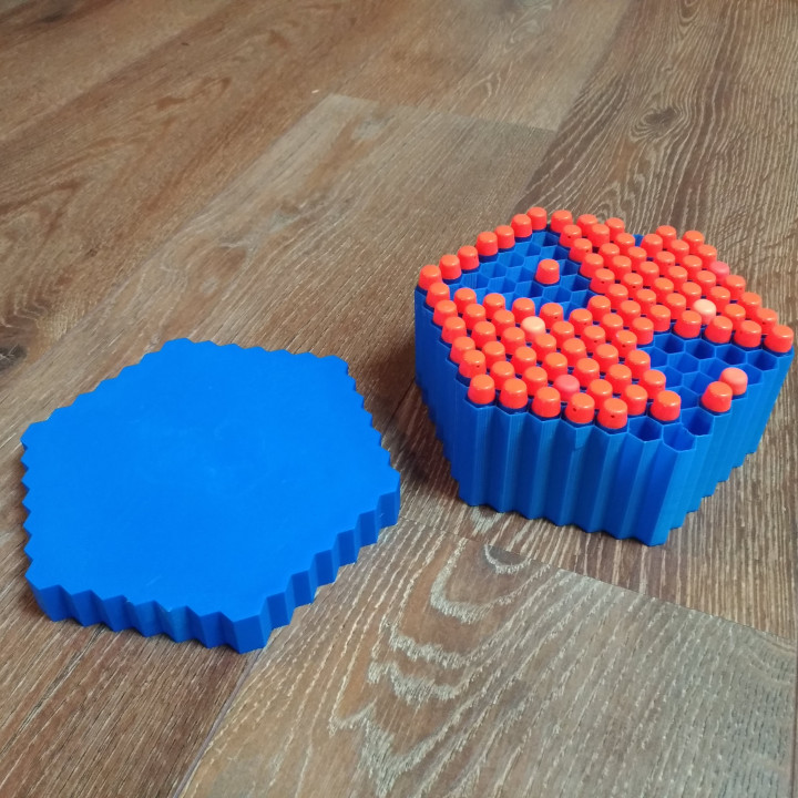 Nerf Hive Box - hexagonal darts container