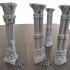 3D printable pillar and assorted bases for dwarf mine 3D print model image
