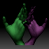 Hands couple love sign 3D printable model image