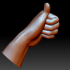 Thumb up hand sign gesture male bended image