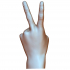 Victory sign hand male image