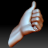 Thumb up hand sign gesture male image