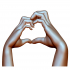 Heart sign hands couple in love image