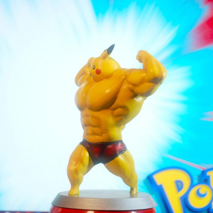 Ultra swole Pikachu