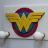 Clothes hook for kids with Wonder Woman logo image