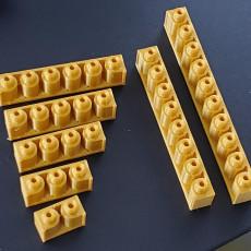 Montini building bricks Pip Strip Set (Lego Compatible)