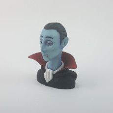 Picture of print of Vampire character bust