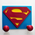 Clothes hook for kids with Superman logo image