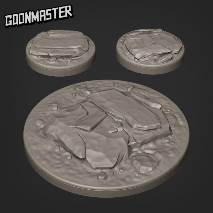 Rocky Bases - 25mm and 50mm Bases