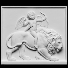 Cupid Riding on a Lion