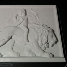 Picture of print of Cupid Riding on a Lion