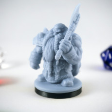 Picture of print of Dwarf Guardian Variant Miniature