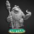 Tortle Sorcerer Variant Miniature - Pre-Supported image