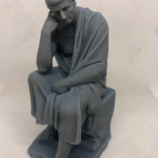 Picture of print of Statue of a seated philosopher