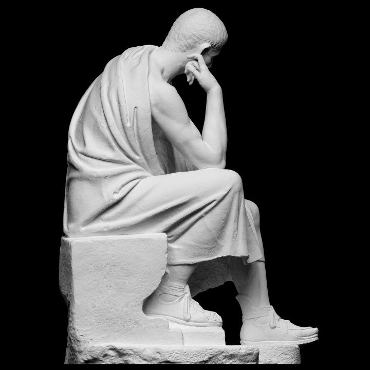 Statue of a seated philosopher