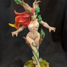 Picture of print of Aidreth Treeborn - Deepwood Alfar (Fantasy Pin-Up)