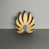 She-Ra Princess of Power Flower Chest Piece/Breast Plate Armor Pendant image