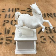 Picture of print of Rearing Horse / Da Vinci Horse