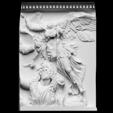 Panel from the Pergamon Altar's East Frieze (Athena and Nike)