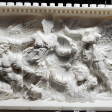 Picture of print of Panel from the Pergamon Altar's East Frieze (Athena Group)
