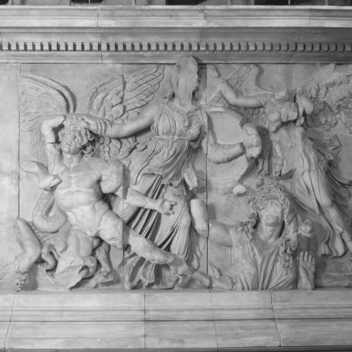 Panel from the Pergamon Altar's East Frieze (Athena Group)