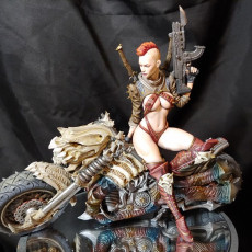 Picture of print of Cyber Metal Biker Chick