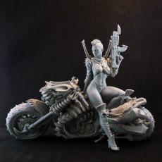 Cyber Metal Biker Chick