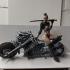 Cyber Metal Biker Chick print image