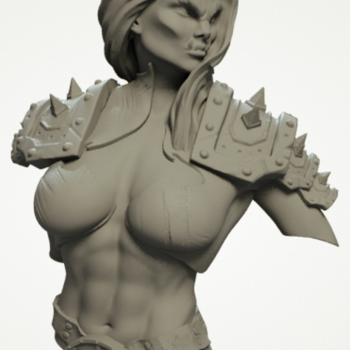 3d Printable Female Orc Warrior Bust By Quarantineprops See more ideas about female orc, character art, fantasy characters. female orc warrior bust