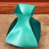 Emerald Tapered Square Vase image