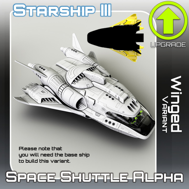 Space Shuttle Alpha Winged Variant