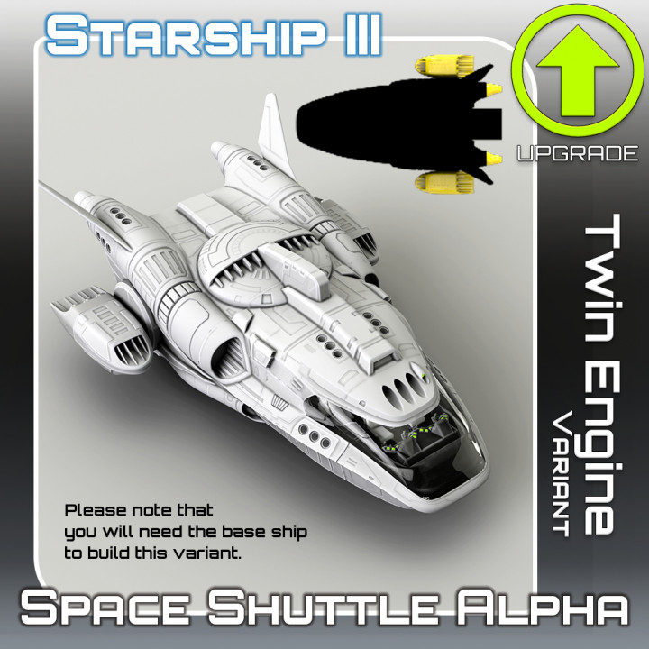 Space Shuttle Alpha Twin Engine Variant